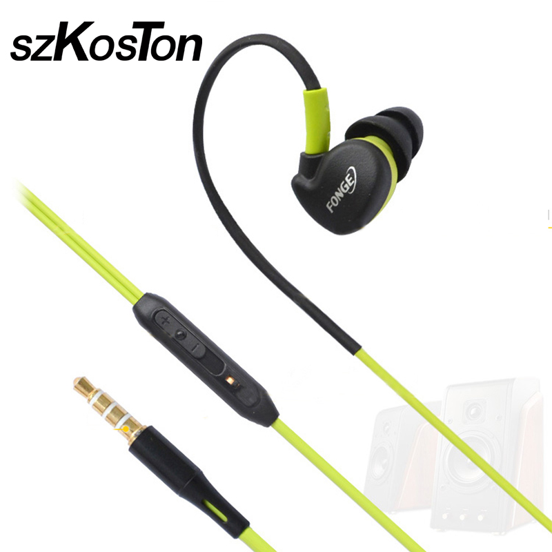 3.5mm Wired Earphone Noice Cancelling In-Ear Sport Headset Stereo Headsets with Mic Waterproof Sweatproof for iPhone 6 Samsung mllse anime fairy tail cartoon in ear earphone portable aux wired stereo earbuds sport mic headset for iphone samsung xiaomi mp3
