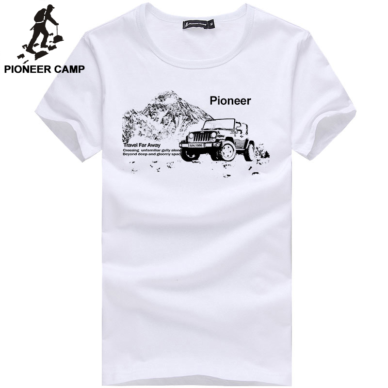 Pioneer Camp fashion mens   t     shirt   short sleeve casual male tshirt   t  -  shirt   white grey white dark blue long sleeve in stock