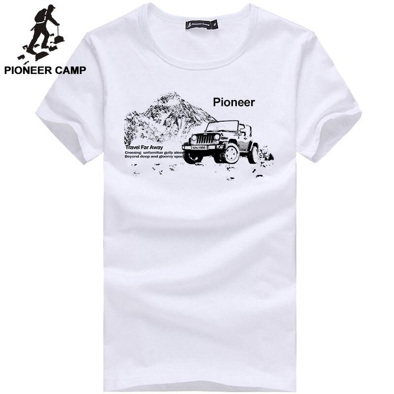Pioneer Camp vogue hommes t-shirt décontracté manches courtes casual homme t-shirt blanc gris blanc bleu foncé t-shirt pour hommes en stock 405033A