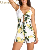 Free Shipping Summer Lemon Print Women Jumpsuit Se ...