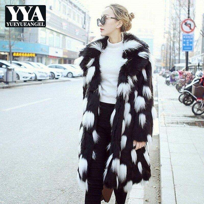 En Black Revers Noir Manches Renard D'hiver Longue Chaud Fourrure De Femelle Harajuku Longues Mode Femmes Nouvelles Streetwear Manteau 2019 Veste Fausse wxqRgXB