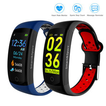 Q6S Fitness Bracelet Heart Rate Monitor Smart Band IP68 Waterproof Watches LCD Blood Pressure Oxygen Fintess Tracker