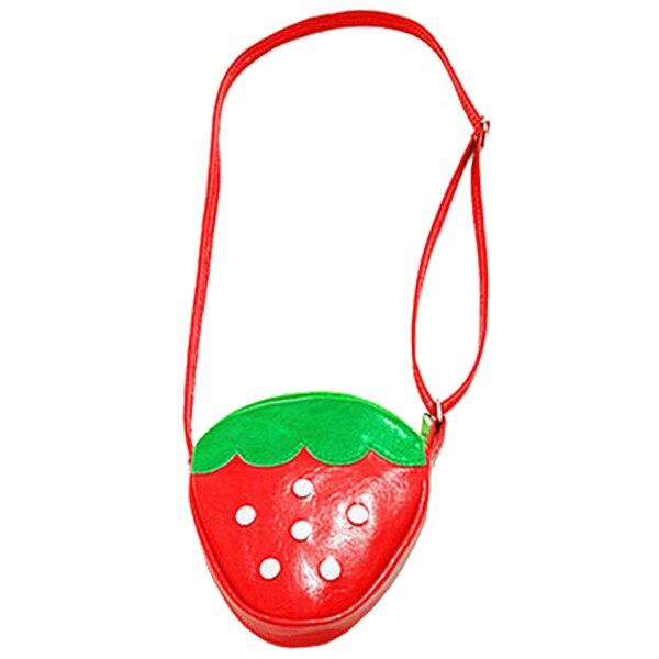 Heba Reizende Kawaii Rote Erdbeere Form Kinder Mädchen Pu Crossbody Umhängetasche Kinder Umhängetasche Geschenke Gut FüR Energie Und Die Milz Gepäck & Taschen Crossbody-taschen
