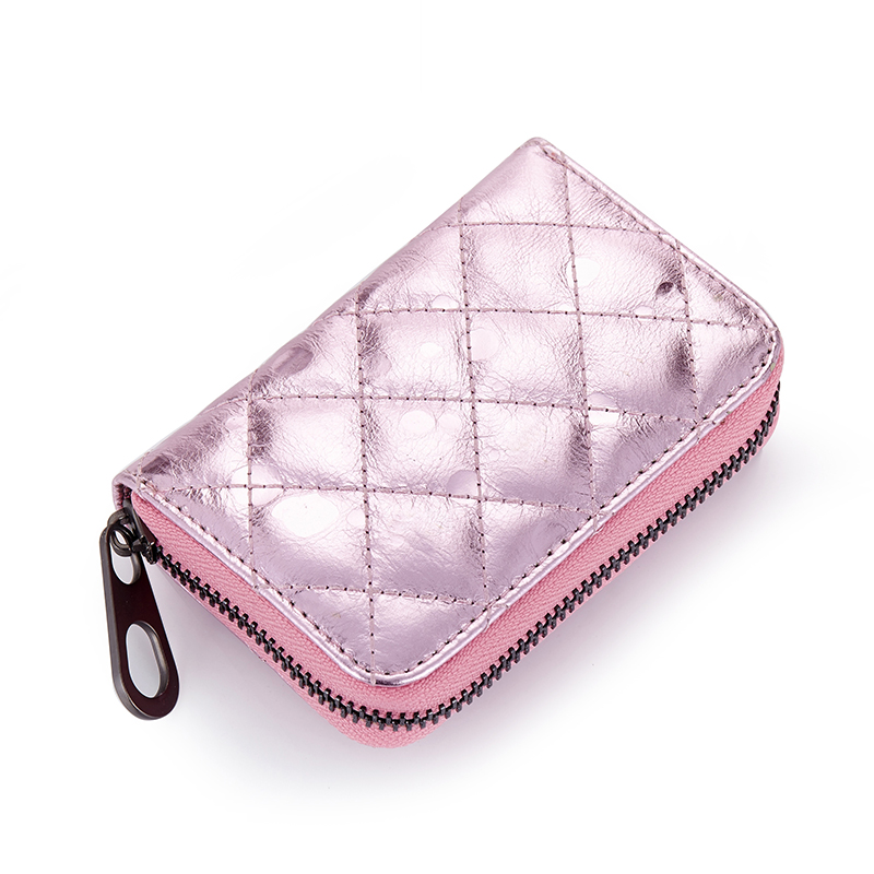 Premium Cowhide Leather Geometric Womens Coin Purse 2018 New Arrivals European And American Multi-Card Bit Women Mini Wallets