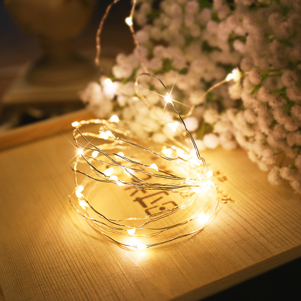Liberal Garland 2m 5m 10m Led Light Kitchen Cooper Wire Led String Lights Holiday Fairy Wedding Party Decoration Led Lights Home Decor Bringing More Convenience To The People In Their Daily Life