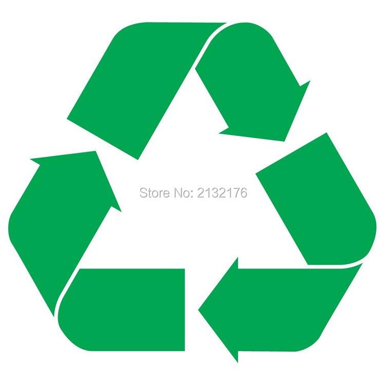 ∞Símbolo de reciclaje 5 Verde ventana de la etiqueta del vinilo ...