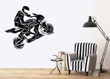 Free shipping DIY wallpaper Motorcycle Sport Decal Vinly WALL Decor Motorbike Wall Sticker Home