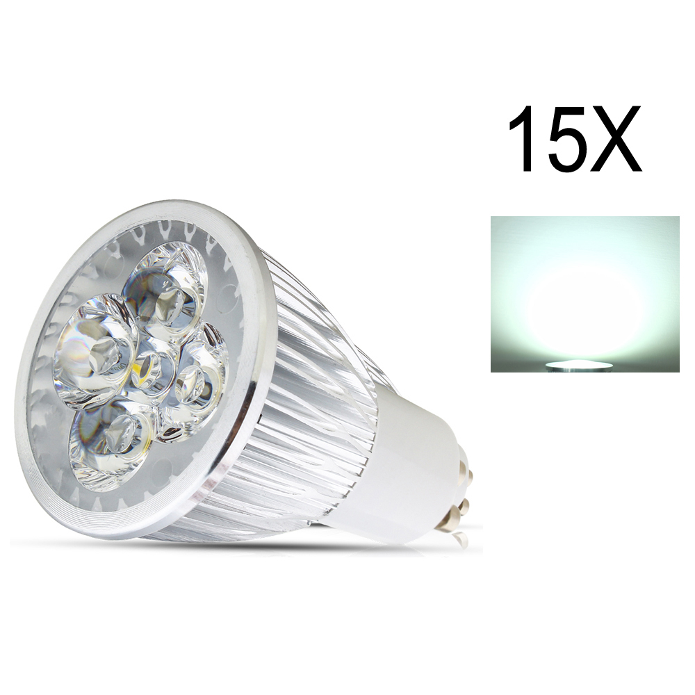 15X GU10 Dimmable LED Bulb LED Spot Light 4W AC85-265V Led Spotlights Warm/Cool White GU10  lamp High brightness Spot light lamp high quality 9w epistar led spot bulb e27 base par38 led light 900lm white ac85 265v ce