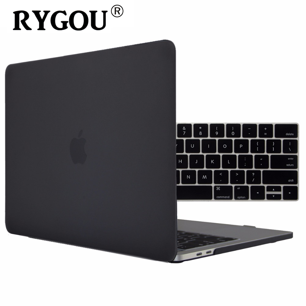 RYGOU Matte Hard Cover Case for New MacBook Pro Retina 13 15 Case A1706 A1707 with Touch Bar OR A1708 w/out Touch Bar 2016 2017 case for macbook pro 13 15 12 retina air 11 13 touch bar a1706 a1707 a1708 matte oil print cover left brain marble wood laptop