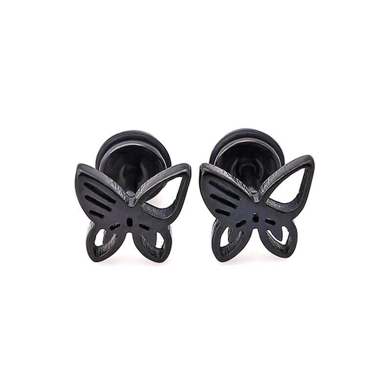 Härliga fjärilsörhängen mode smycken rostfritt stål söta - Märkessmycken