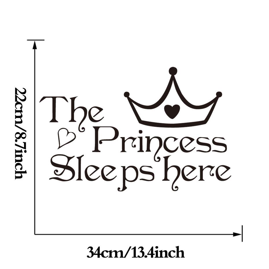 HTB1IYikPXXXXXcsXpXXq6xXFXXXq - The Princess Sleep Here Wall Stickers For Kids Room