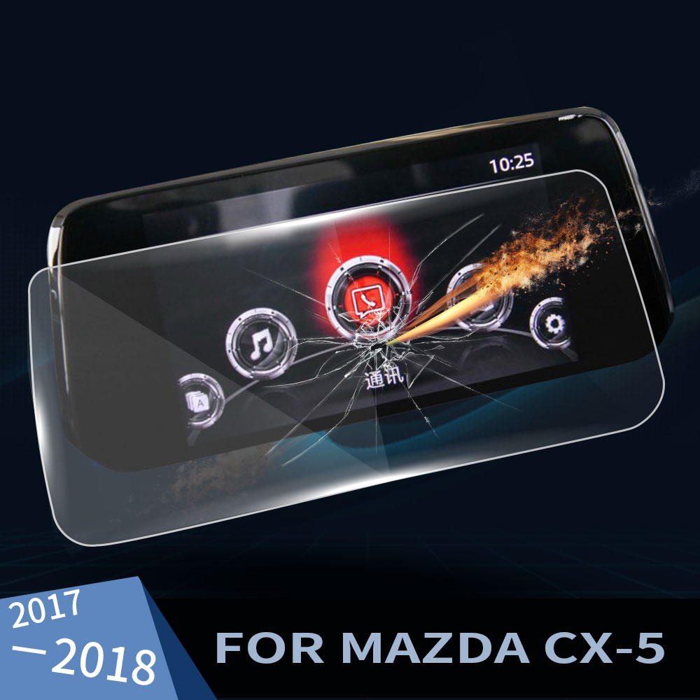 Car GPS Navigator Tempered Glass Steel Screen Protector Protective Film for <font><b>Mazda</b></font> <font><b>CX</b></font>-<font><b>5</b></font> 2017 <font><b>2018</b></font> Car <font><b>Interior</b></font> <font><b>Accessories</b></font> image