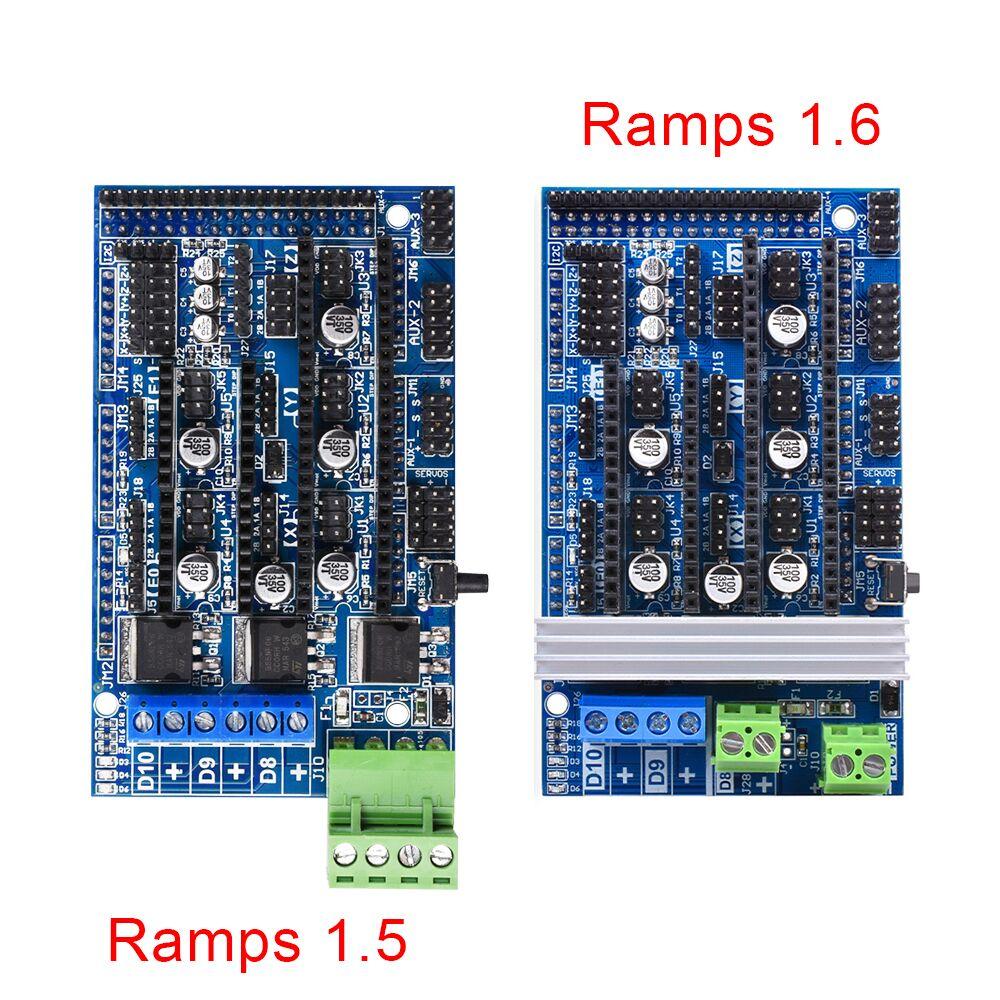 Ramps 1.6 Ramps 1.5 Upgrade Ramps 1.4 3D Motherboard Support A4988 DRV8825 TMC2130 Driver Reprap Mendel For 3D Printer Parts