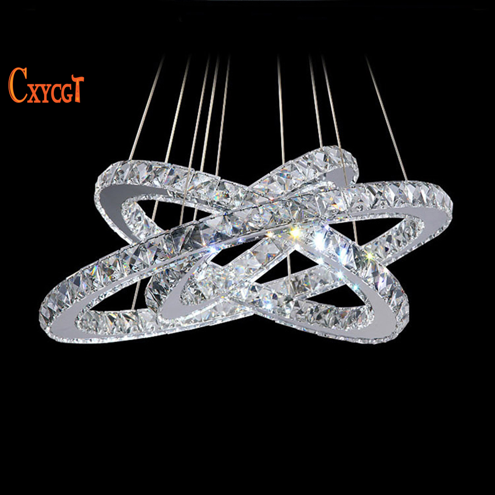 cheap contemporary lighting. 3 diamond ring led crystal chandelier light modern lighting circles lamp 100 guarantee fast cheap contemporary b
