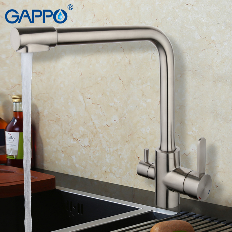 GAPPO 1set water filter taps kitchen faucets purified water mixer Kitchen sink Faucet Water tap stainless