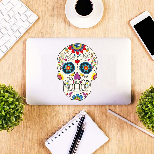 Diy Skull Devil Cartoon Laptop Stickers Removable PVC Decals For Computer Notebook Car Styling Wallpaper
