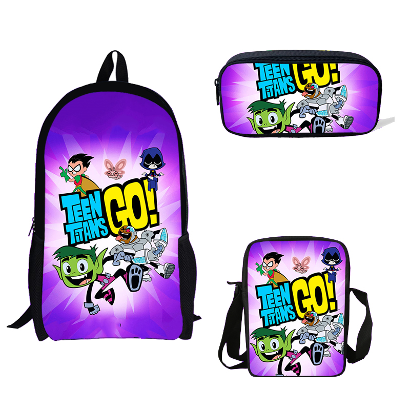 100% Wahr Teen Titans Gehen Action-figuren Gedruckt Rucksack Mini Jungen Einzelnen Schulter Tasche Titanic Bleistift Tasche Mädchen Schule Tasche Für Kinder Geschenk