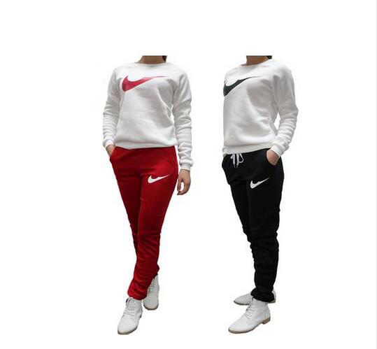 edd55752d5f53 2016 Brand Tracksuit Women Sport Suit Hoodie Sweatshirt+Pant Jogging Femme Marque  Survetement Sportswear 2pc Set 4 Color S-XL