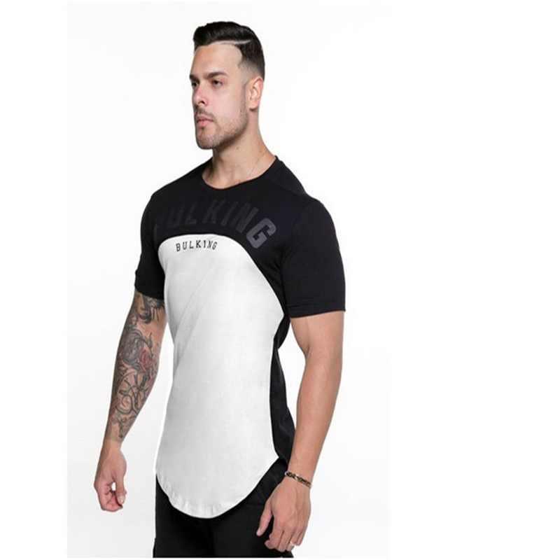cbefe68dfd9e1 2018 Мужская футболка с круглым вырезом Летняя мода Печатный узор Мужская s  Тонкая футболка плюс размер