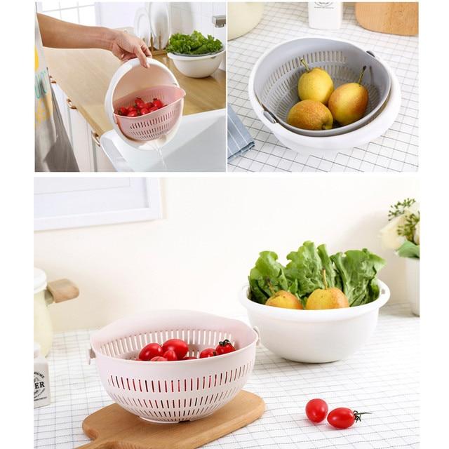 Double Drain Basket Kitchen Strainer 6