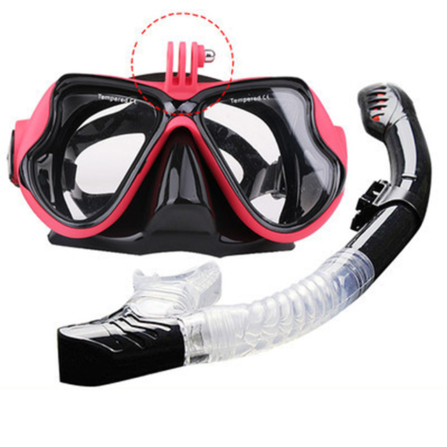 Professional Underwater Mask Camera Diving Mask Swimming Goggles Snorkel Scuba Diving Equipment Camera  Holder For Go Pro
