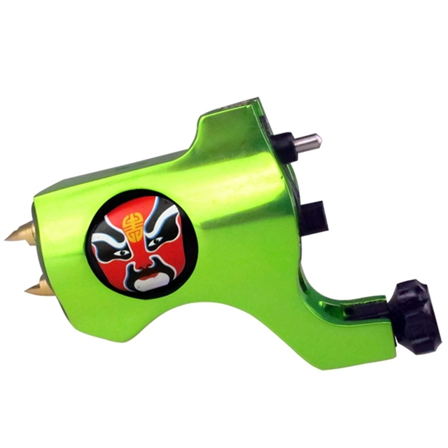 Hot Sale Bishop Rotary Tattoo Machine Gun Green Tattoo Gun For Tattoo Supplies Liner And Shader TM-553D