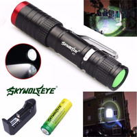 3500 Lumens 3 Modes XML T6 LED Flashlight Torch Lamp Light 14500&Charger Free Shipping #NN17