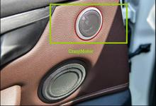 2pcs/set Interior Car Door Stereo Speaker Cover Trim For BMW X1 F48 2016 2017 car styling