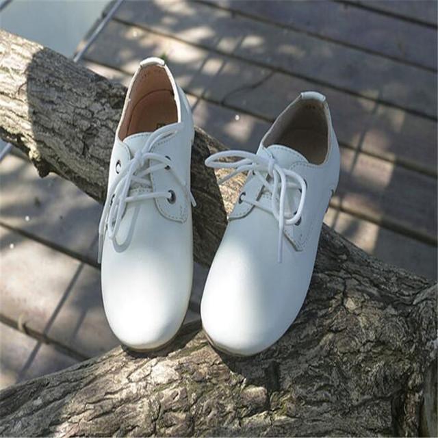 2017 meninas sapatos de couro genuíno únicos shoes preto casual shoes branco pequeno princesa shoes crianças peas shoes