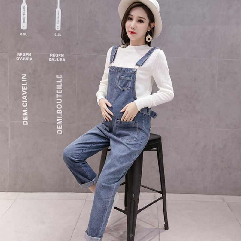 Джинсы для беременных; брюки для беременных; джинсовые комбинезоны; повседневные Комбинезоны с регулируемой талией; комплект со свитером
