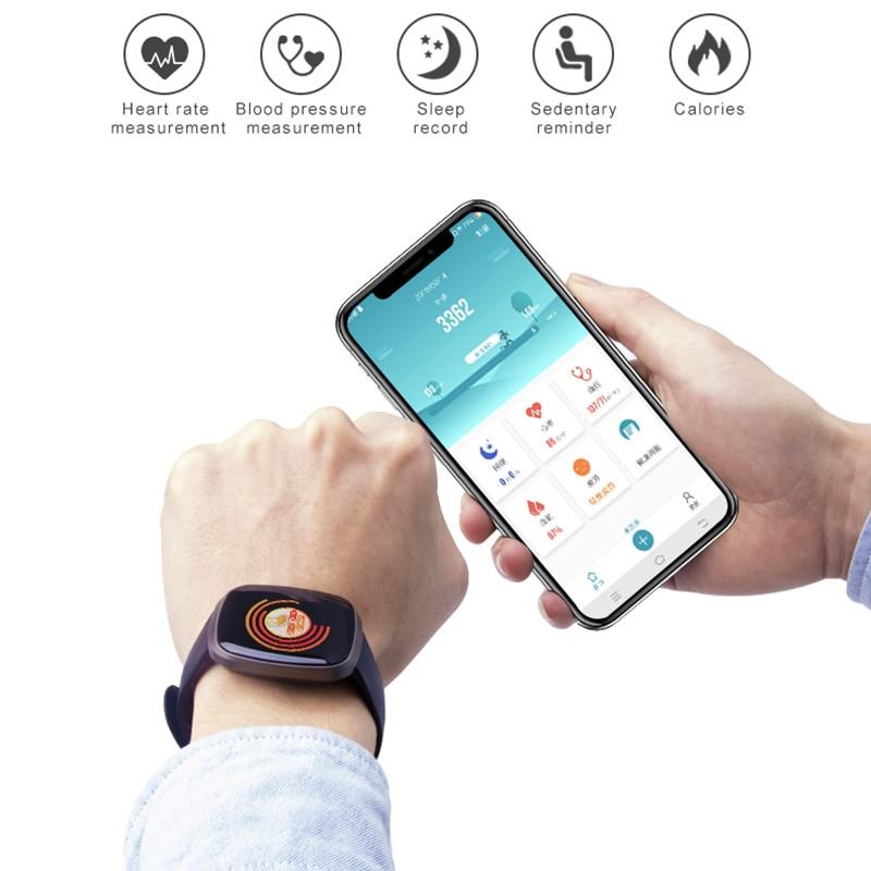 Image 4 - Фитнес трекер Смарт часы сна кровяное давление монитор сердечного ритма управление музыкой водонепроницаемые спортивные наручные часы для IOS Android-in Смарт-часы from Бытовая электроника