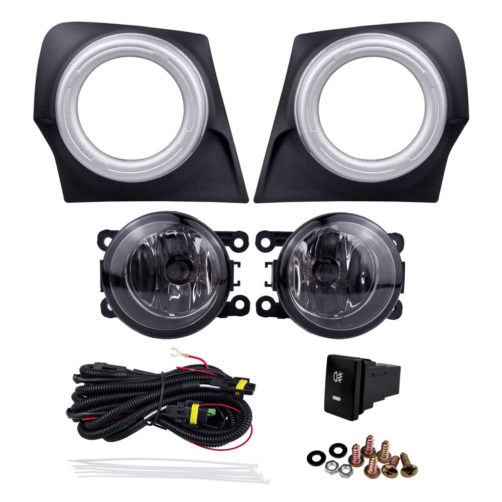 4300K 55W 12V for Mitsubishi Triton L200 2015 Auto Front Fog Light External Wiring Kit Halogen Lamp Assembly Car Accessories