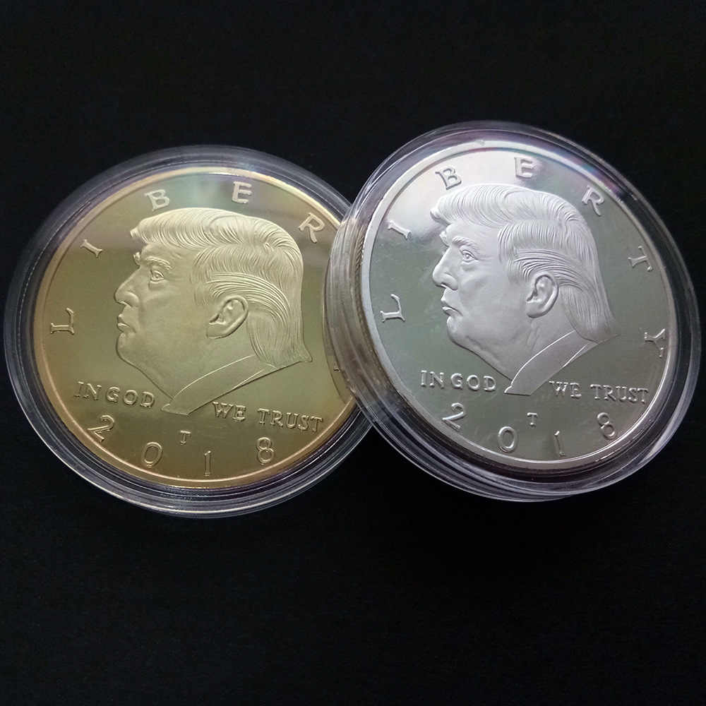 2018 Presidente Donald Trump Inaugurale Golden Eagle Commemorativa Moneta Novità