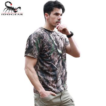 IDOGEAR koszula taktyczna Camo armia okrągły kołnierz anty-uv pot sportowe na świeżym powietrzu WST116 oddychająca pocenie tanie i dobre opinie 20 Spandex 80 POLYESTER Pasuje prawda na wymiar weź swój normalny rozmiar