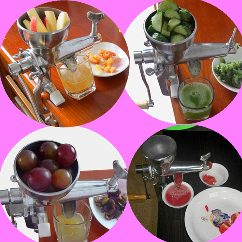 Wheat grass juicer manual stainless steel oranges apple lemon grape cucumber tomato potato wheatgrass juice extractor for home blood oranges