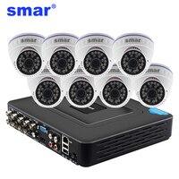 960H Surveillance System 1000TVL Indoor Dome Camera Kit 3 6MM Lens H 264 8CH DVR Built