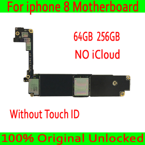 Image 2 - 64GB 256G 100% Original unlocked for iphone 8 Motherboard With/Without Touch ID,for iphone 8 Mobile phone motherboard with Chips