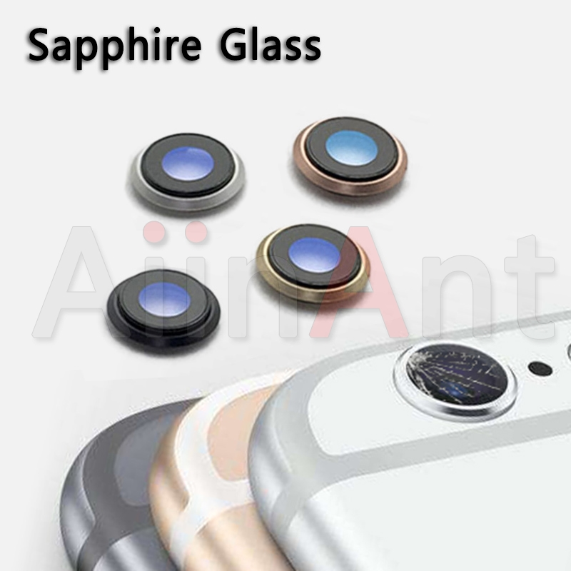 Original Sapphire Crystal Back Rear Camera Glass Ring For iPhone 6 6s Plus Camera Lens Ring Cover Replacement Repair Parts