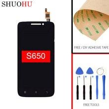 Тестирование жк-экран 4.7 дюймов для lenovo s650 жк-дисплей сенсорный дигитайзер экран черный ассамблея бесплатная доставка бесплатные инструменты,