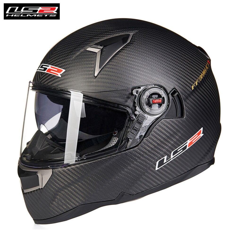 все цены на LS2 FF396 Carbon Full Face Motorcycle Helmet Racing Capacete Casque Casco Moto Helm Kask Helmets For Benelli Motorsiklet Bike онлайн