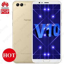 5.99'' Huawei Honor View V10 Kirin970 OctaCore Android 8.0 Honor V10 Cell Phone 4GB/6GB RAM 64GB/128GB ROM Dual Back Camera NFC