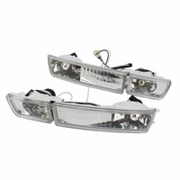 TAIHONGYU Pair Clear Front Bumper Fog Light Signal Lamp Left Side and Right Side for VW Golf Jetta MK3 1993 1998 1996 Vento