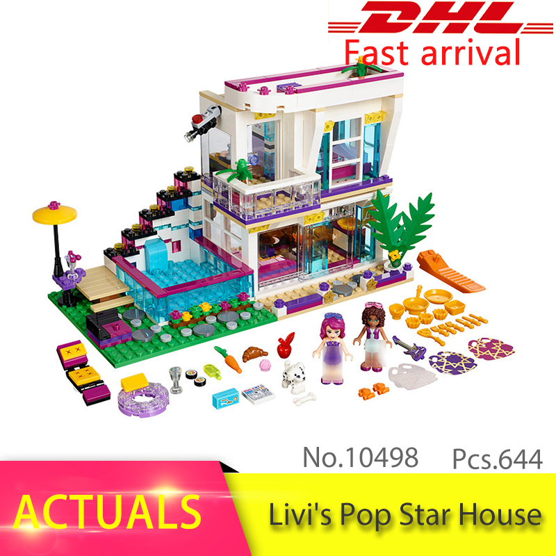 Friends Series 41135 The Livi's Pop Star House Model Building Block Bricks DIY Educational Toys For Children 10498 Girl's Gift hot sale 1000g dynamic amazing diy educational toys no mess indoor magic play sand children toys mars space sand