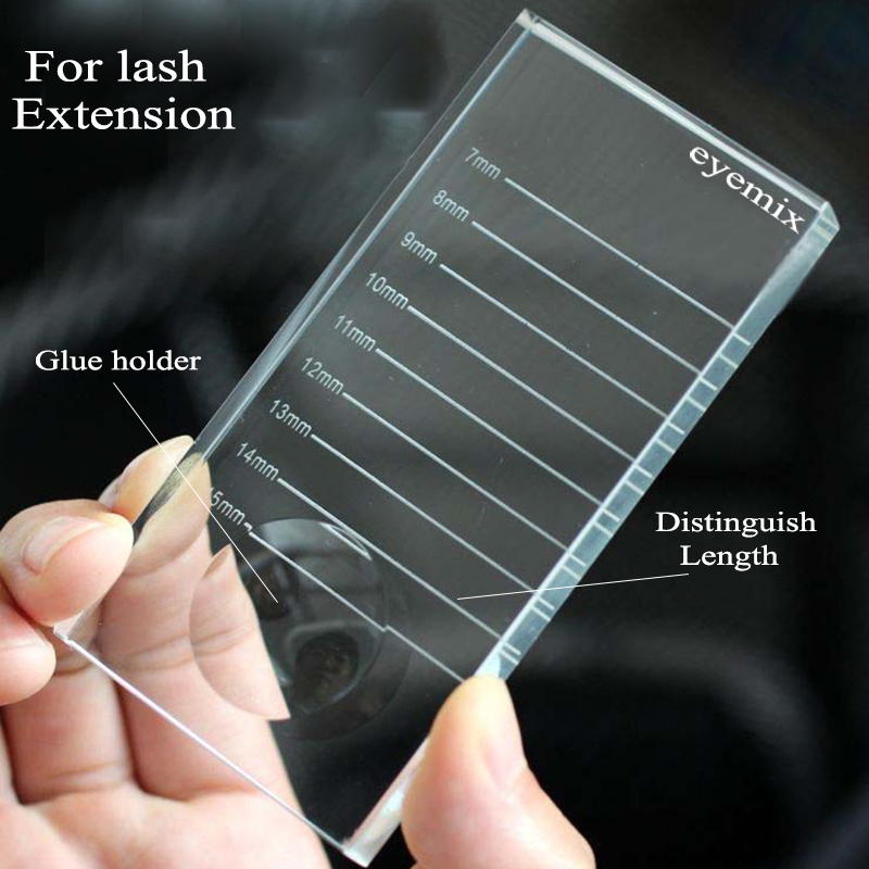 2-In-1 Eyelash Extensions Crystal Glass Adhesive Glue Pallet New Ceramic Lash Tiles Individual Eyelash Extension Holder