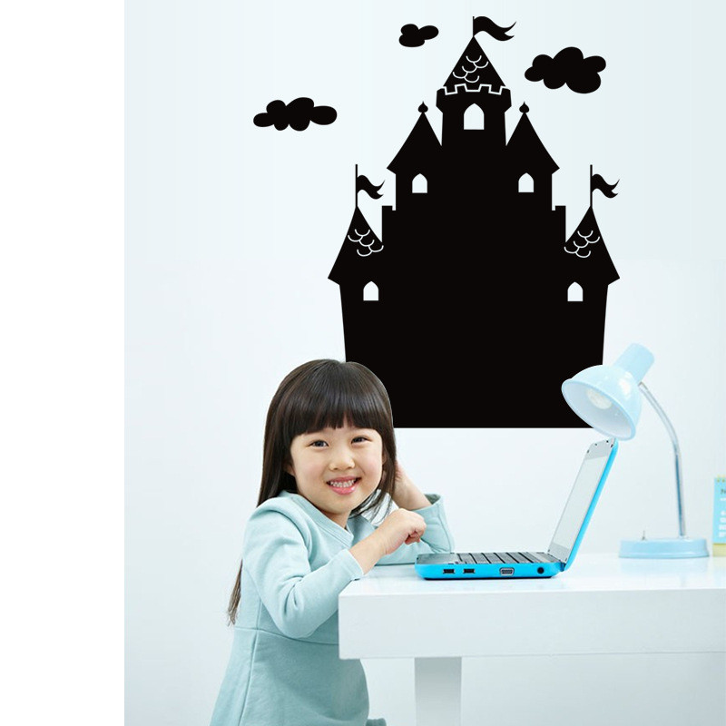 aliexpresscom buy house shaped black board wall stickers kids early learning wallpapers gifts toys home office school poster paper decals 2016 new from home office early
