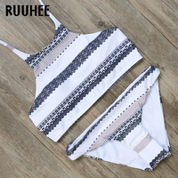 RUUHEE Bikini Swimwear Swimsuit Women 2017 High Neck Bikini Set Bathing Suit Biquini Push Up Beachwear