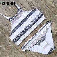 RUUHEE Bikini Swimwear Swimsuit Women 2017 High Neck Bikini Set Bathing Suit Biquini Push Up Beachwear