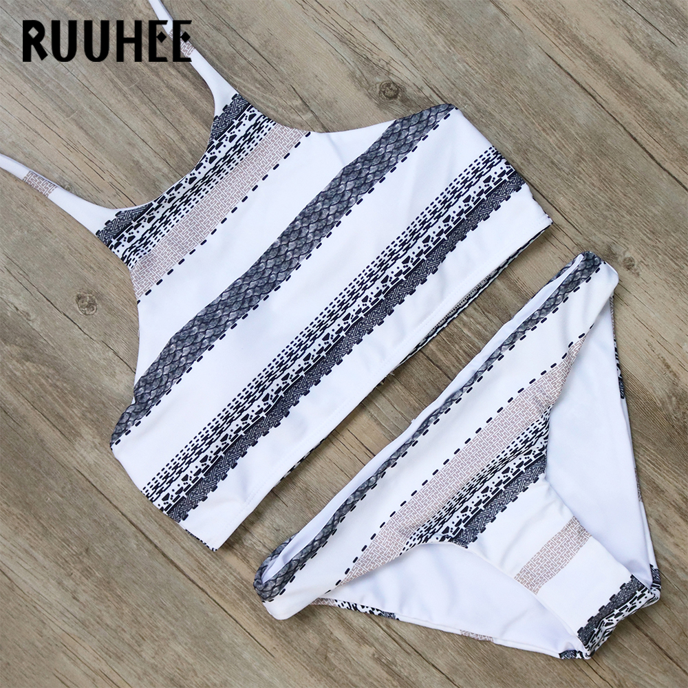 RUUHEE Bikini Swimwear Swimsuit Women 2017 High Neck Bikini Set Bathing Suit Biquini Push Up Beachwear Maillot De Bain Femme ruuhee bikini swimwear women 2017 swimsuit bathing suit brazilian beachwear push up bikini set maillot de bain biquini swim wear
