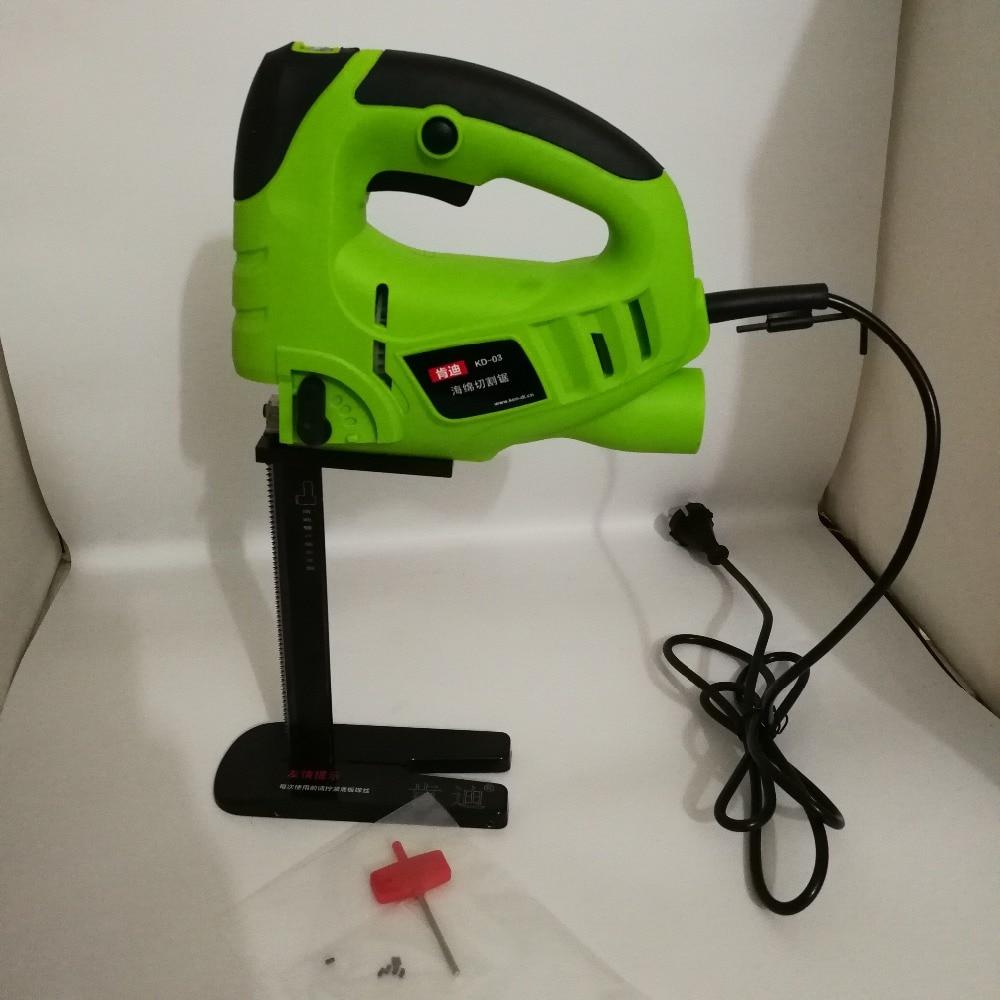 220 V scie électrique éponge coupe mousse caoutchouc scie alternative 200mm