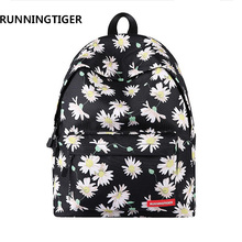 Здесь можно купить  Women Backpack Fashion Canvas Woman Flower Printing school bags for teenagers Shoulder Bags mochilas travel hiking backpack  Backpacks